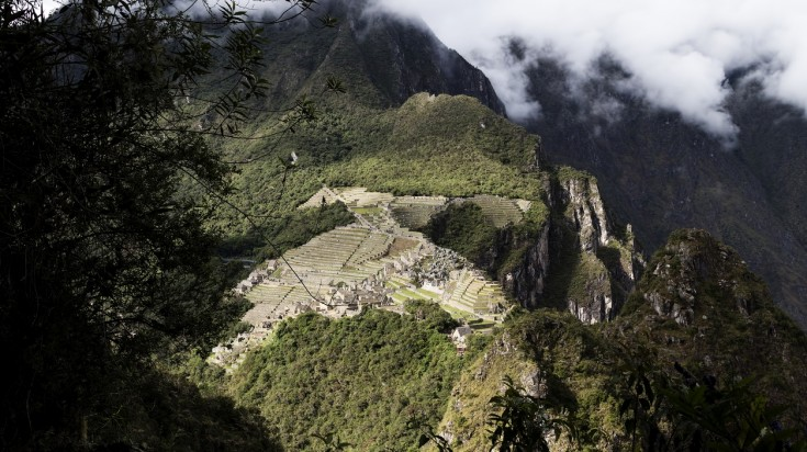 Views of Machu Picchu from Huayna Picchu hike trail