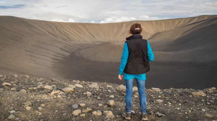 Hverfjall volcano is one of the most scenic volcanoes in Iceland