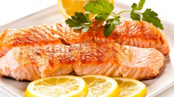 Salmon fish is a Iceland food staple