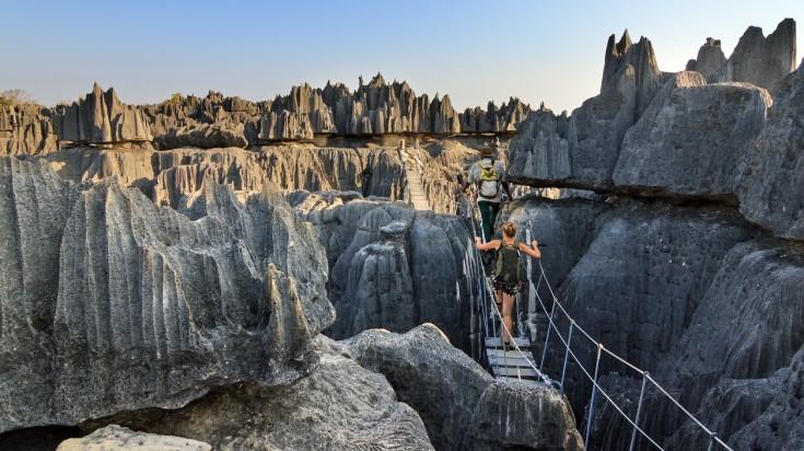 Limestone formations in Tsingy de Bemaraha Strict Nature Reserve