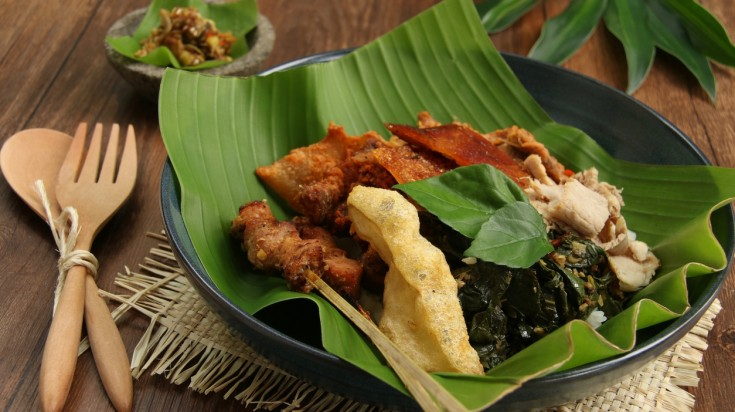 Babi guling is a popular dish in Indonesian cuisine