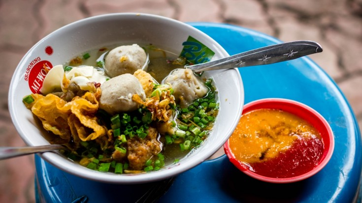 Bakso is a meatball and noodle soup in Indonesian food