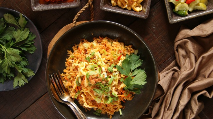 Nasi goreng is a famous Indonesian food
