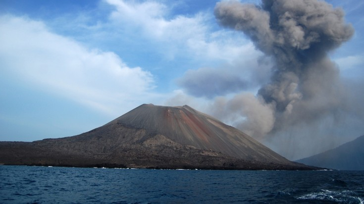 Anak Krakatau is a Indonesian volcano that can be hiked