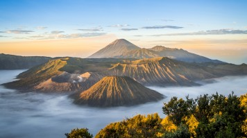 Mount Bromo is an Indonesian volcano with a view