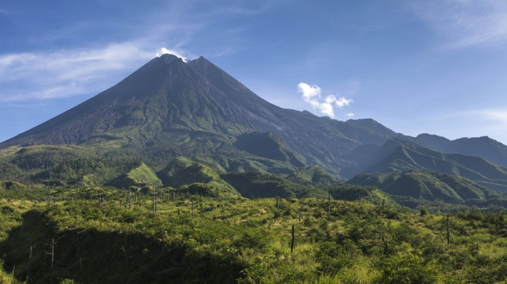 Mount Merapi is a famous Indonesian volcano