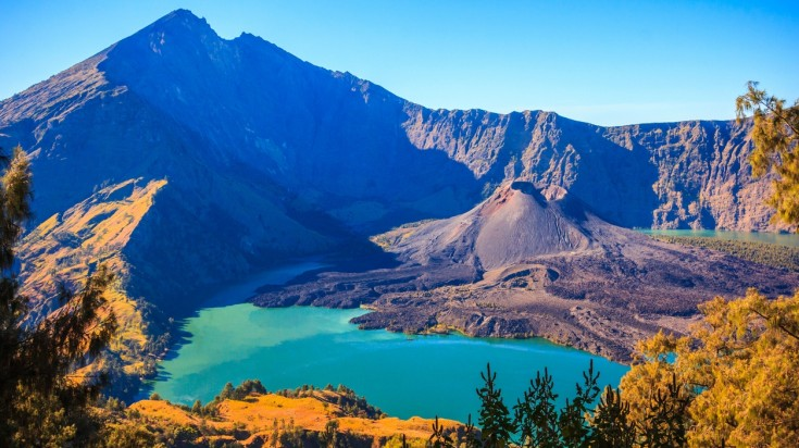 Mount Rinjani is the only Indonesian volcano in Lombok