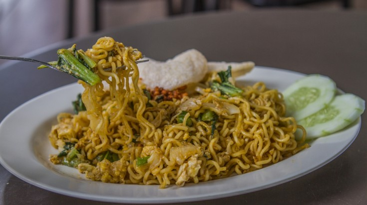Indomie is a popular Indonesian food sold in instant noodles