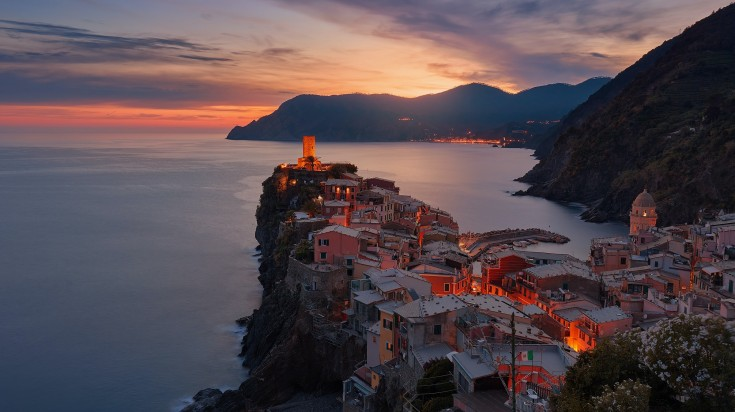 Vernazza, a beautiful town in Italy.