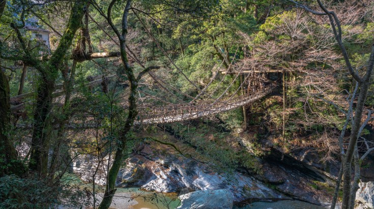 The stunning woven vine bridges makes Iya Valley a perfect off the beaten path in Japan.