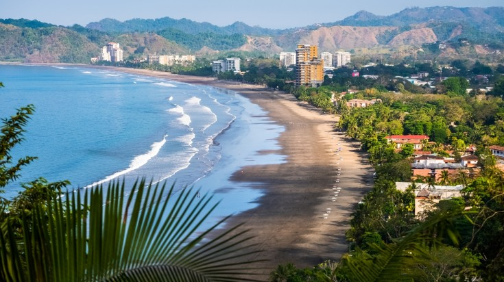 Jaco Beach in Costa Rica is one of the liveliest beaches in the country.