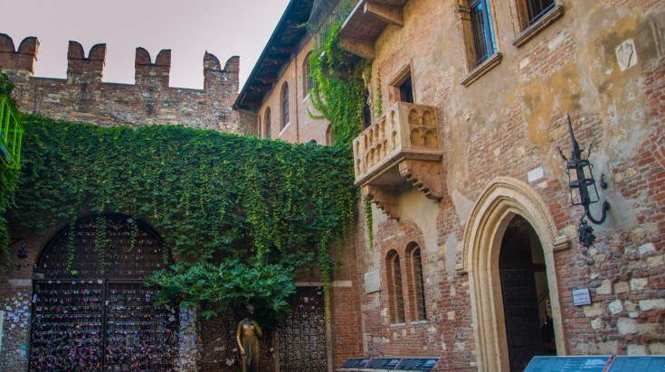 Tucked into the charming streets of Verona sits a stone terrace with a small balcony with a significant history.