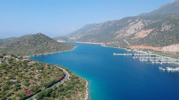 Kas is known for its beautiful beaches and relaxing scenery.