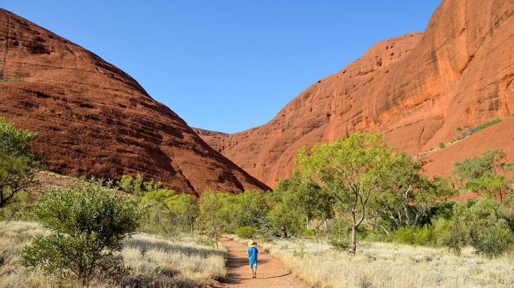 When on an Uluru Tour, take a walk to the Valley of the Winds at Kata-Tjuta
