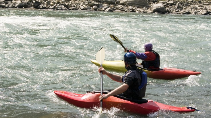 Seti river Kayaking in Nepal