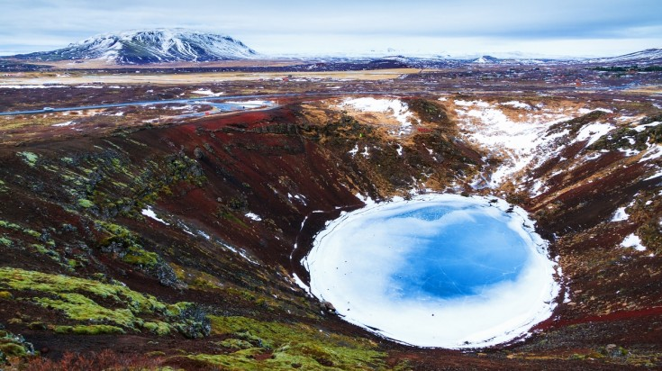 The Kerid Crater is one of the most visited places in Iceland