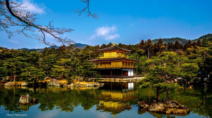 When you take the Japan Golden Route, you will visit Kinkakuji an iconic temple overlooking a huge pond in Kyoto.