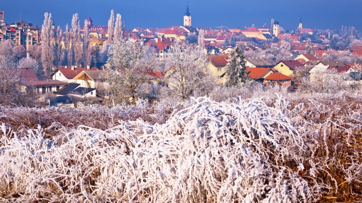 Winter view of Krizevci city