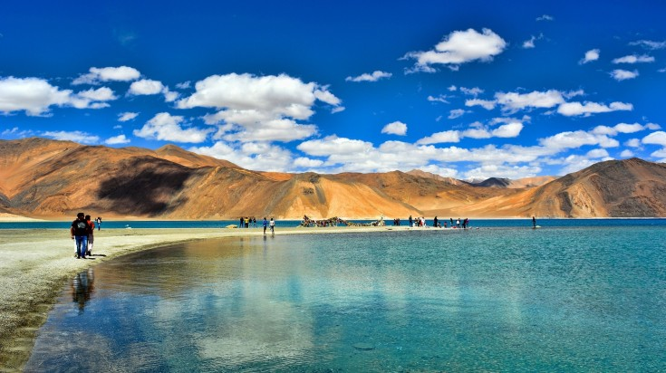 The famous lake in Ladakh