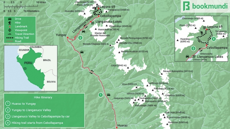 map of laguna 69 hiking trail