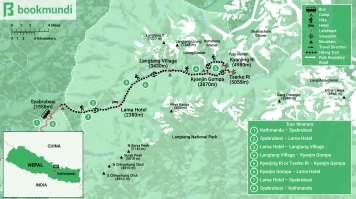 Langtang Trek Map with Itinerary