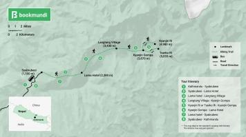 Langtang Trek map