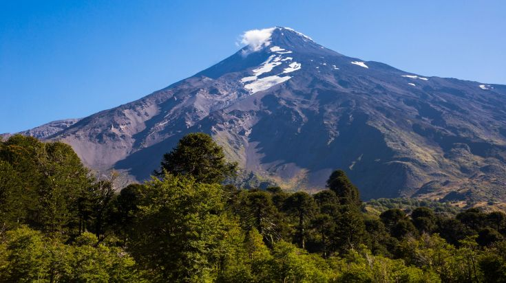 Lanin Volcanon in Chile