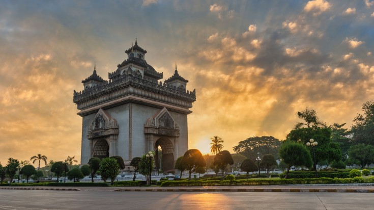 Patuxai monument is one of the most famous landmark in Vientiane