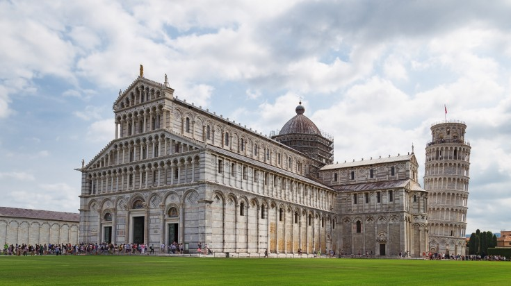 Leaning tower of Pisa is a popular attraction in Italy.