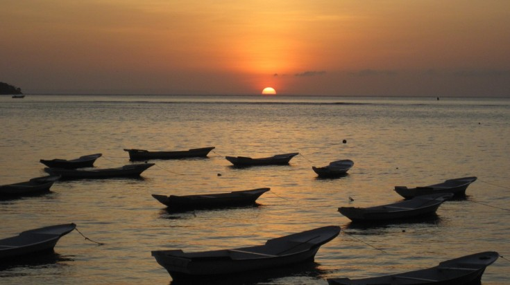 Sunset on Lembongan island, Bali