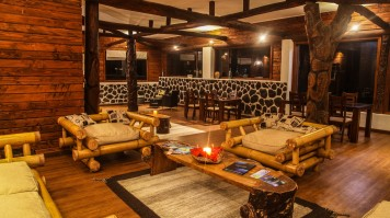 The lounge area in Lemu Lodge