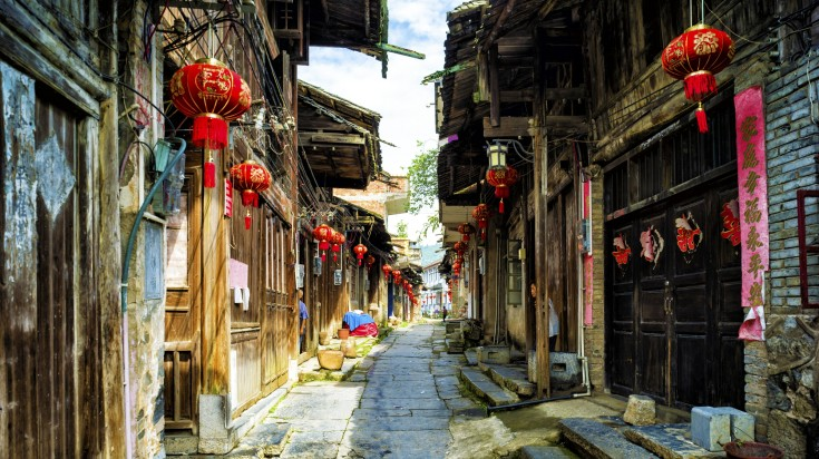 Daxu, a 2000 year old town, lies near the bank of the Li River