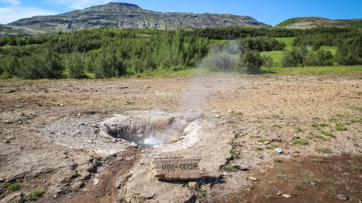 Litli Geysir is a small geyser in Iceland