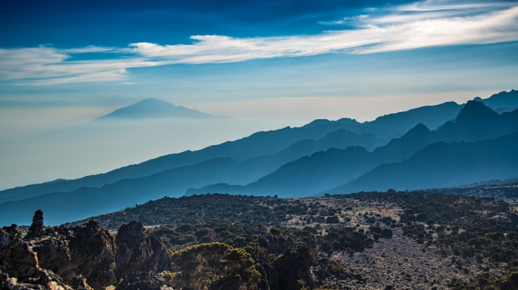 Views from Machame Route in Kilimanjaro National Park