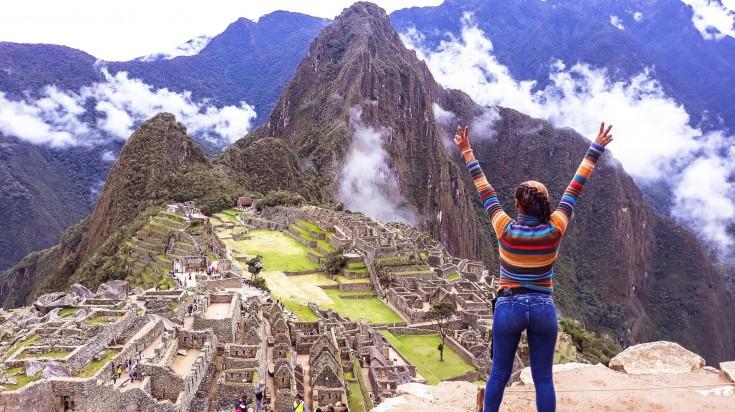 Set on a mountain ridge, Machu Picchu is an archaeological site in Peru.