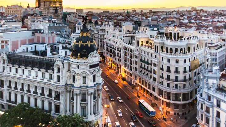 Gran Via which means great way is a street in the Central Madrid.