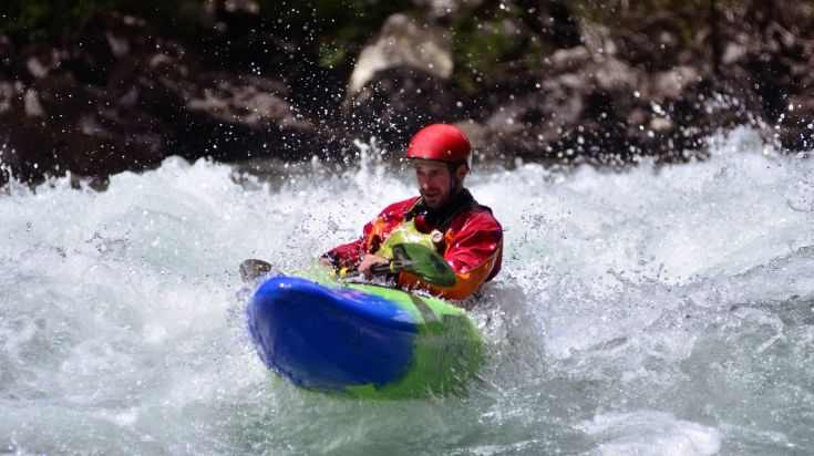 Whitewater Kayaking on the Maipo River in Chile