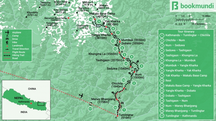 Makalu Base Camp Map