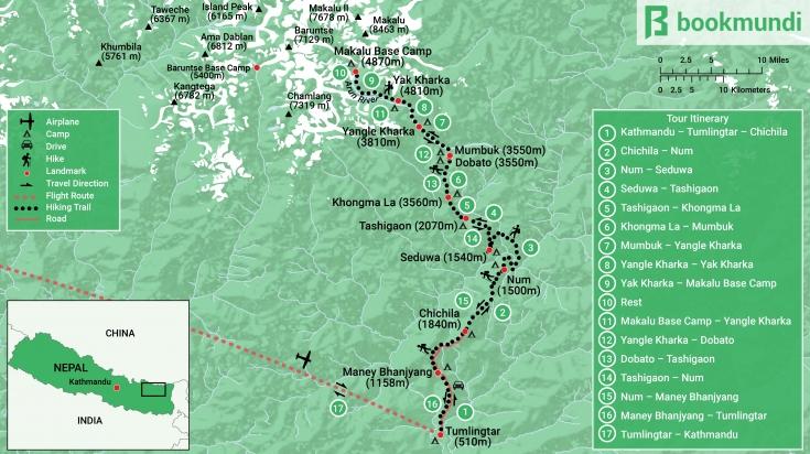 Makalu Base Camp Map