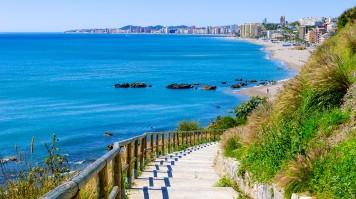Fuengirola beach in Malaga
