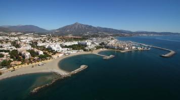 Puerto Banus beach in Malaga