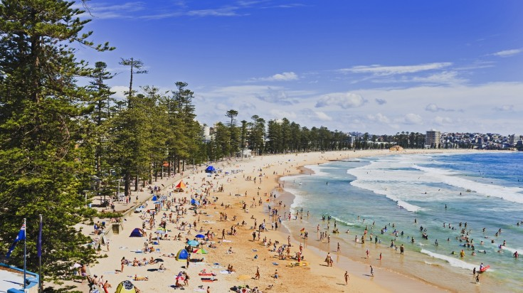 Manly beach for surfing in Sydney