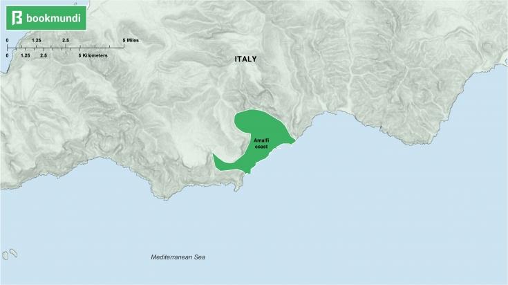 An overview of Amalfi coast.