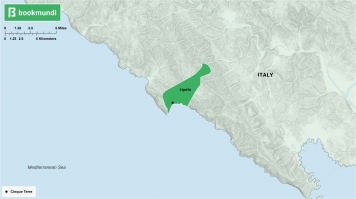 An overview map of Cinque Terre.
