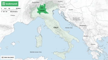 An overview map of the Italian Lake District.