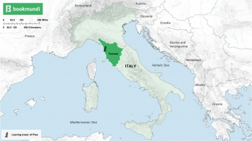 An overview map of Pisa.
