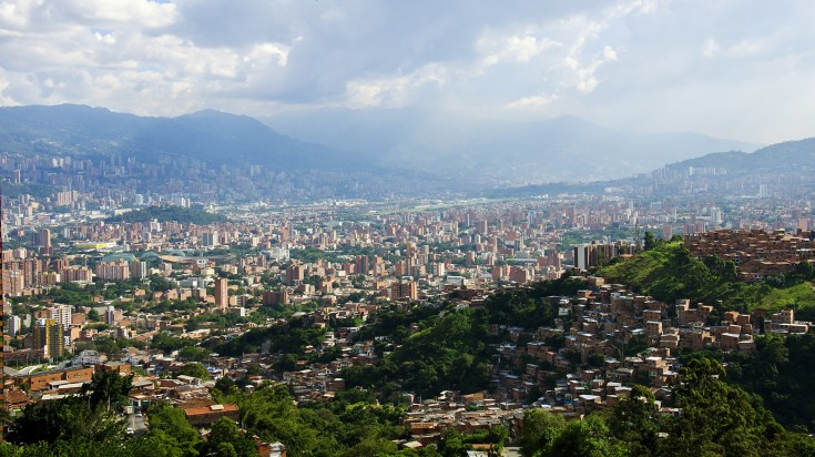 Medellin view from the top of Nutibara hill