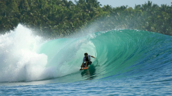 Mentawai Island in Indonesia is a great place to surf