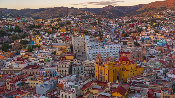 Located in Central Mexico, Guanjuato is a city rich in colonial architec