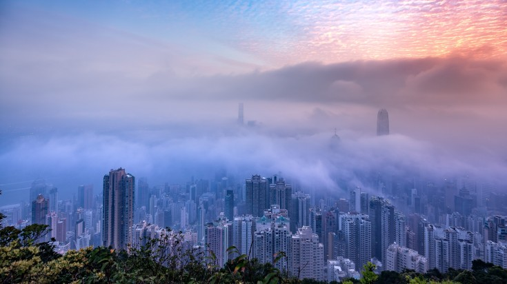 Misty season in Hong Kong